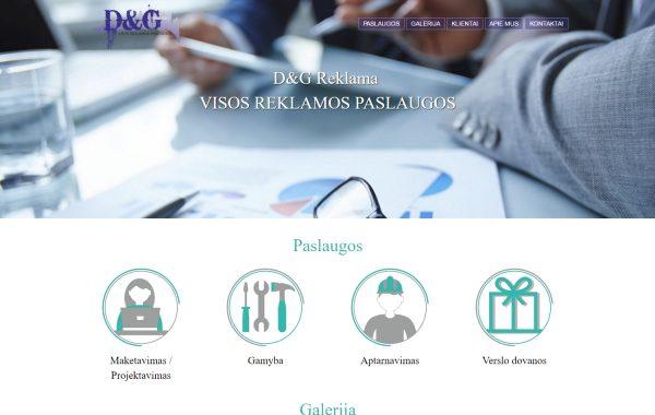 DG Reklama internetinės svetainės kūrimas