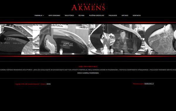 AKMENSGAMINIAI.COM Internetinės svetainės kūrimas