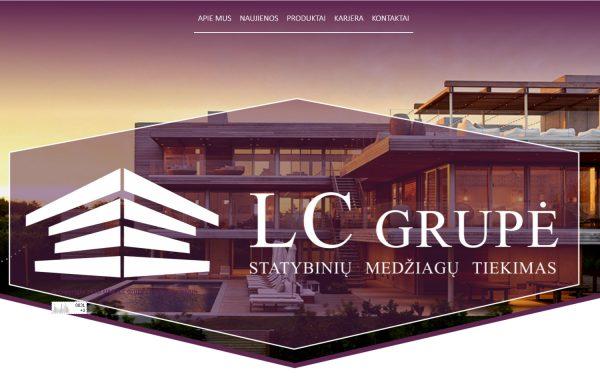 LCGRUPE.LT internetinės svetainės kūrimas