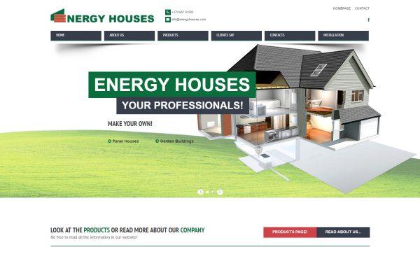 Energyhouses.com Internetinės svetainės kūrimas