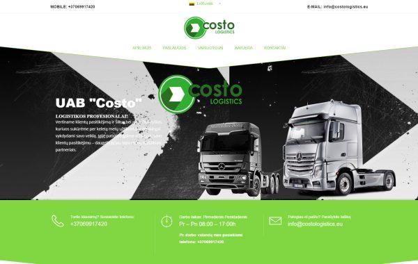 Internetinės svetainės kūrimas Costologistics
