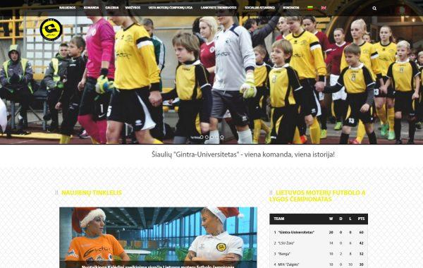 FK Gintra-Universitetas internetinės svetainės kūrimas