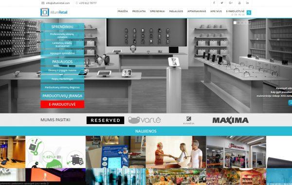 Internetinės svetainės kūrimas Altum Retail