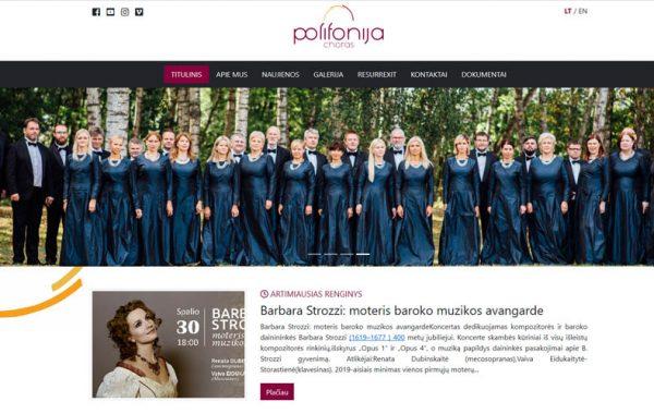 Polifonija.lt internetinės svetainės kūrimas